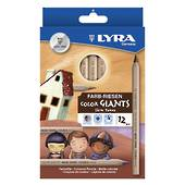 Lyra Giant Colour Pencils Giant in Skin Tones pack12