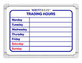 Writeraze Trading Hours Signs